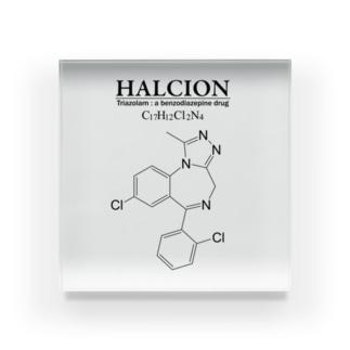 ハルシオン(トリアゾラムを使用した睡眠導入剤[睡眠薬]):化学:化学構造・分子式 Acrylic Block