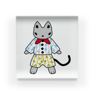 おしゃれ好きな猫 Acrylic Block