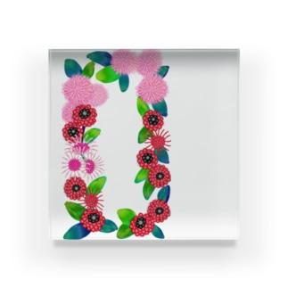 花柄 Acrylic Block