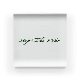 StopTheWar(GREEN) Acrylic Block