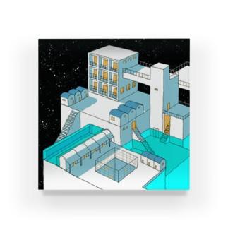 星外れの街 Acrylic Block