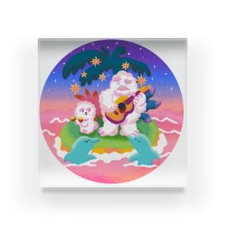 Chill Yeti&Dog Acrylic Block