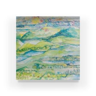 山湖山 Acrylic Block