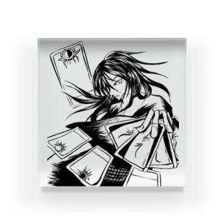 職業戦士『札士』(黒) Acrylic Block