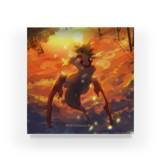 夕焼けとリペア・アクリルブロック Acrylic Block
