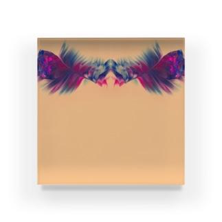 色彩の羽根 002 Acrylic Block