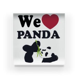 we love パンダ Acrylic Block