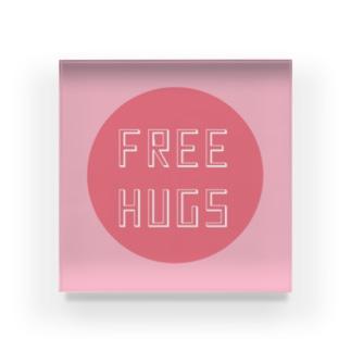 吉田屋のFREE HUGS(フリーハグ)【サークル】 Acrylic Block