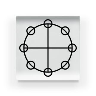 カタカムナーヤタノカガミ Acrylic Block