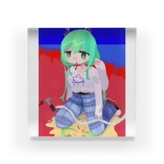 ただの蝦夷リス Acrylic Block