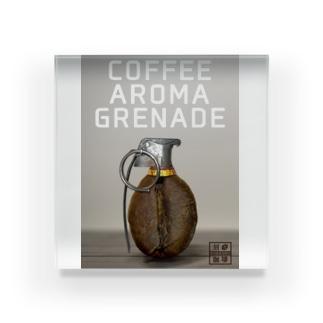 コーヒー豆グレネード Acrylic Block
