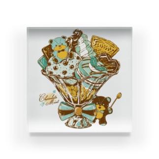 チョコミントパフェ Acrylic Block