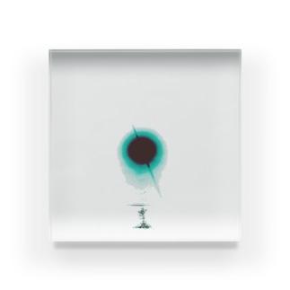青い太陽 Acrylic Block