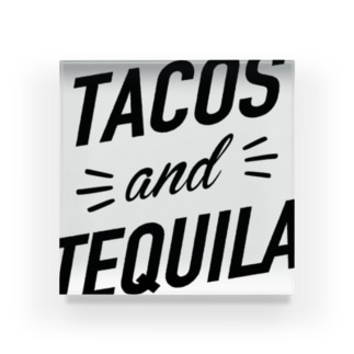 TACOS and TEQUILA Acrylic Block