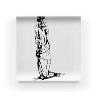半裸の男性 Acrylic Block