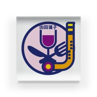 パ紋No.3376 内田  Acrylic Block
