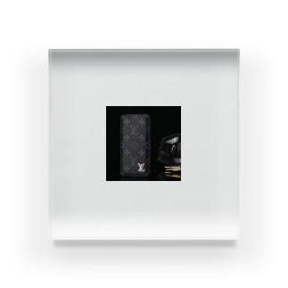 SUPREME アイフォンXSケース lv iPhone XRケース モノグラム chanelアイフォンxsケース 男女兼用 Acrylic Block