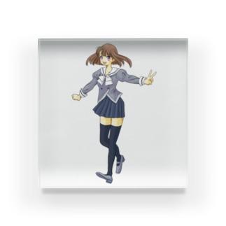 セーラー服の女の子 Acrylic Block