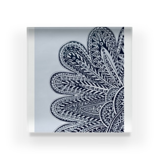 FLOWER OF EARTH Acrylic Block