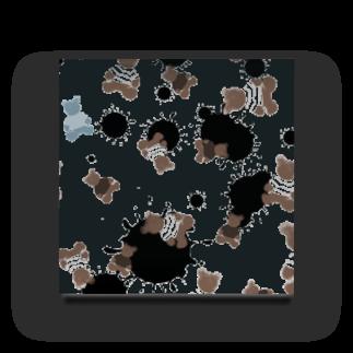 かじきのmilk choco kuma Acrylic Block