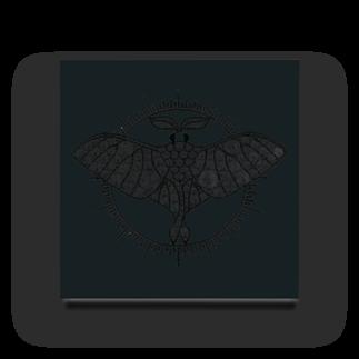アトリエ蟲人のオオミズアオ 線画(黒ver) Acrylic Block