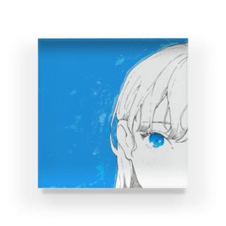 蒼い瞳 Acrylic Block