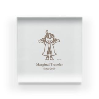 Marginal Traveler Acrylic Block