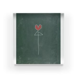 相合い傘に願いを Acrylic Block