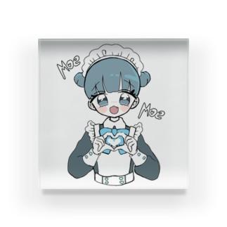 お団子青メイドちゃん Acrylic Block