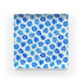 青い花水彩2 Acrylic Block