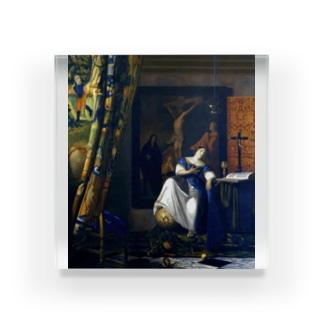 信仰の寓意 / フェルメール (The Allegory of the Faith 1670) Acrylic Block