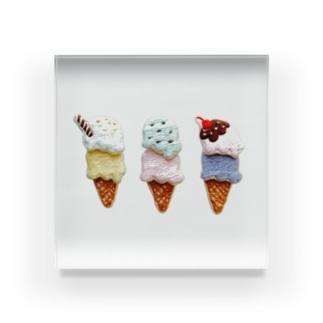 ダブルアイスクリーム アクリルブロック