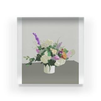 初夏のお花 Acrylic Block