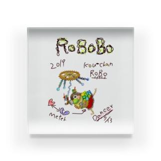 ROBOBO ウロコインコ「コウちゃんロボ」 Acrylic Block