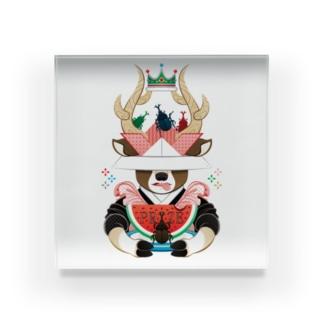 カブトムシと西瓜(リメイク) Acrylic Block
