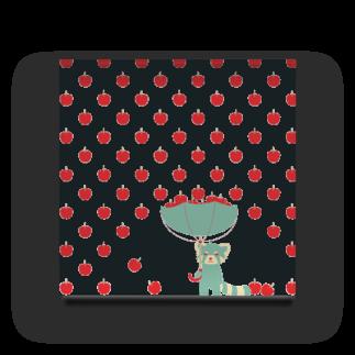 きゃべつ日和のりんご雨レッサーパンダ Acrylic Block