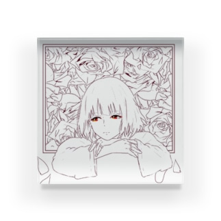「色はない」女の子 Acrylic Block