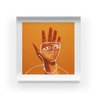 左手にいさん Acrylic Block