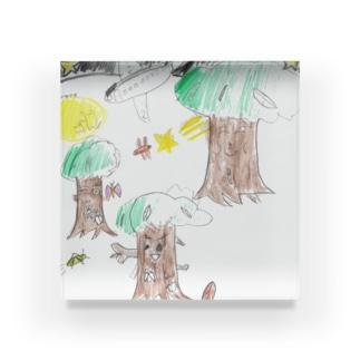 夏の夜の森 Acrylic Block