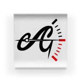 Aガレージ ロゴ Acrylic Block
