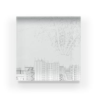 ダイコン 正方形 Acrylic Block