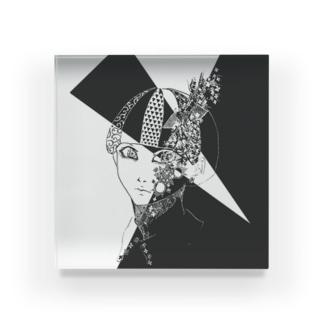 花草に呑まれる Acrylic Block
