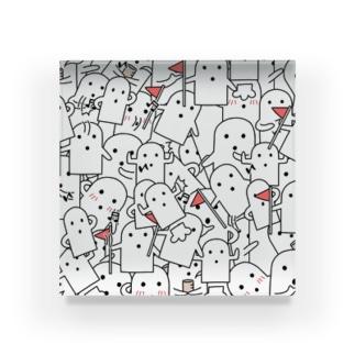 白いハニワ【うじゃうじゃ】 Acrylic Block