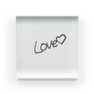 rabi1255のLove♡ Acrylic Block