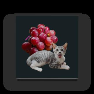 保護猫カフェ「駒猫」さん家のNo.3 ぶどうくん♪ Acrylic Block