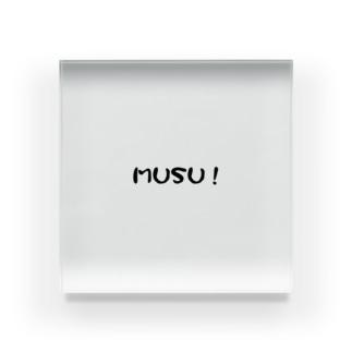 MUSU! Acrylic Block