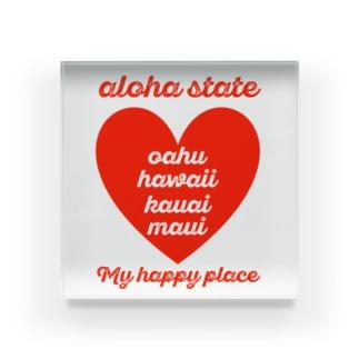 aloha state (ハート) Acrylic Block
