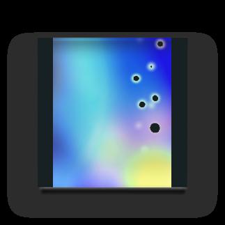 モチモッチー ショップの幻想的な空 Acrylic Block