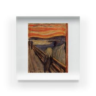 ムンク / 叫び / The Scream / Edvard Munch /1893 Acrylic Block