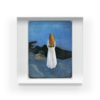 ムンク / 1896 / Young woman on the shore / Edvard Munch Acrylic Block